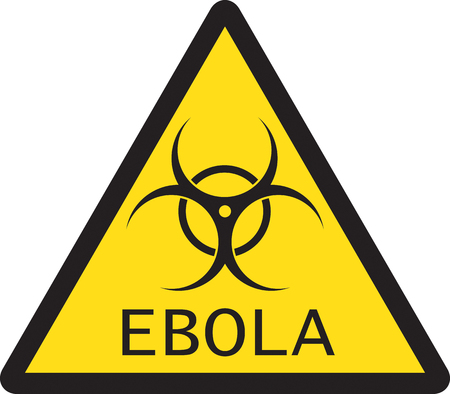 warning signs: Illustration of sign of Ebola biological hazard . Vector illustration Illustration