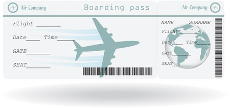 Variant of air ticket isolated on white. Vector illustration 免版税图像 - 32920587