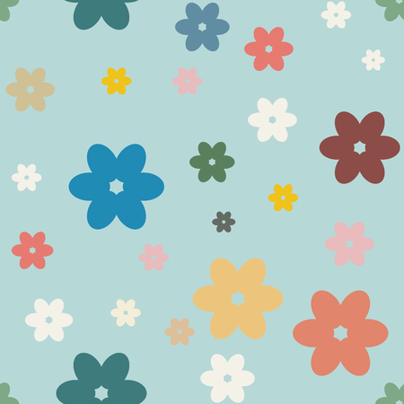 camomile: Seamless floral background with camomiles. Vector illustration