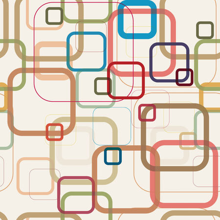 repetition: Abstract seamless background. Pattern was made from squares with rounded corners. Vector illustration