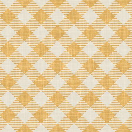 Textura inconsútil de la tela escocesa amarilla. Ilustración vectorial