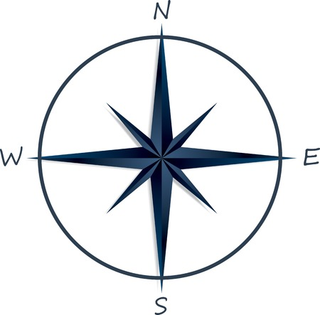 compass rose: Compass rose on white background . Vector illustration
