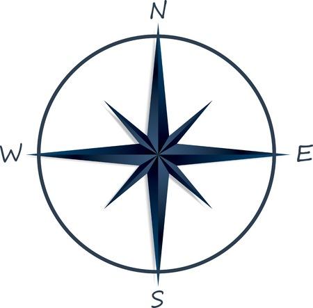 rosa dei venti: Compass rose su sfondo bianco. Illustrazione vettoriale Vettoriali