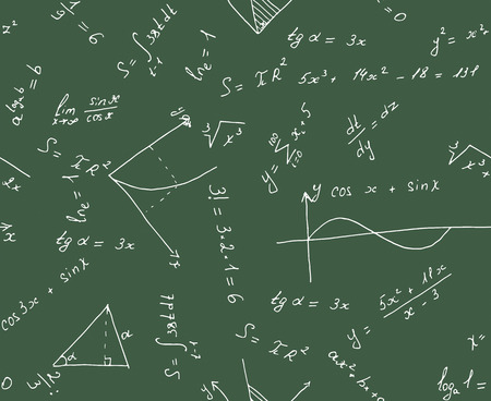 integral: Modelo incons�til del fondo de matem�ticas. ilustraci�n vectorial Vectores