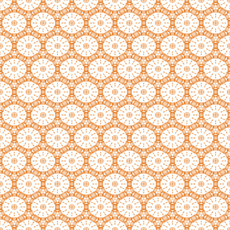 Seamless pattern for background of round in pastel red color. Vector illustration Vector