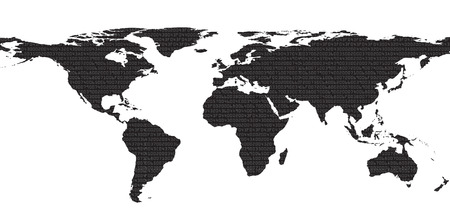 secret codes: Abstract security background with map of world with HEX-code. Vector illustration Illustration