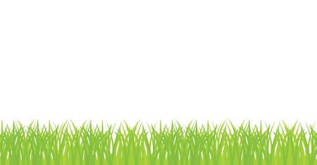 seamless illustration of green grass border 矢量图像