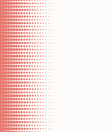 repetition row: Seamless halftone background with red color. Vector illustration