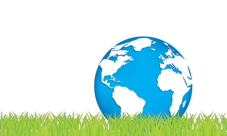 green planet: Ecology concept of green planet. Vector illustration