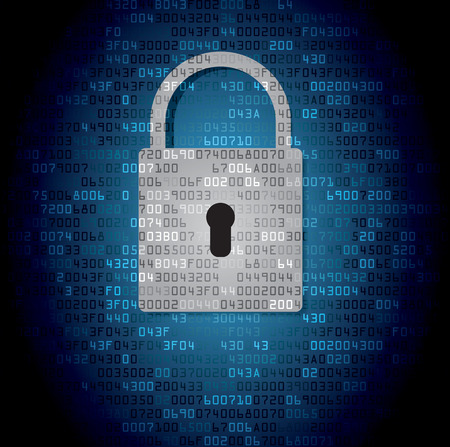 Lock on background with HEX-code. Vector illustration Illustration