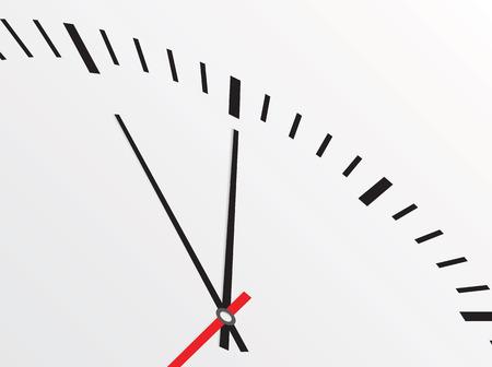 clock face: Clock isolated on white background. Vector illustration Illustration