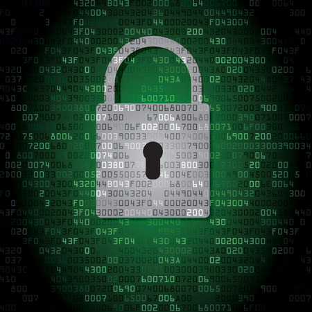 Lock on background with HEX-code. Vector illustration 矢量图像