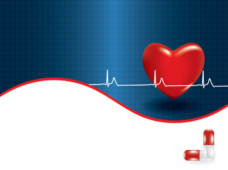 heart attack: Background of concept of medical problem with heart. Vector illustration
