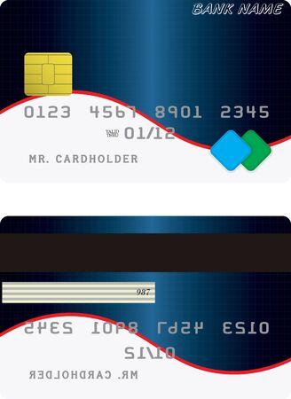 Variant of credit or debit card. Vector illustration Illustration