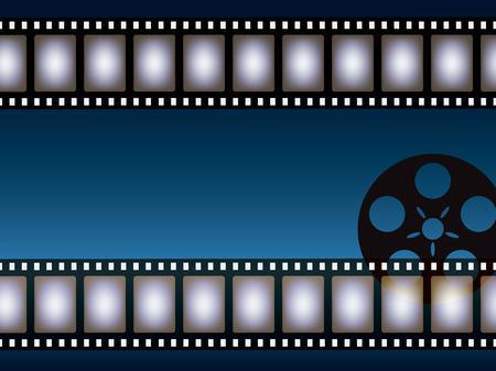cinematographer: Background from negative film strip. Vector illustration