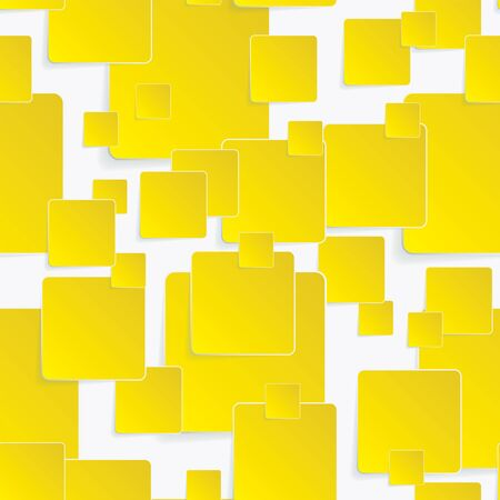square background: Yellow paper square background. EPS10 vector illustration