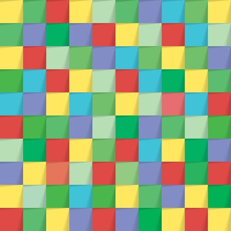 square background: Colorful seamlesst paper square background. Vector illustration