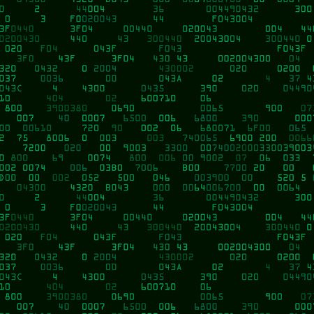secret code: Green security background with HEX-code. Vector illustration