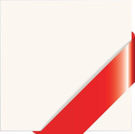 paper corner: Vector illustration of the red paper corner