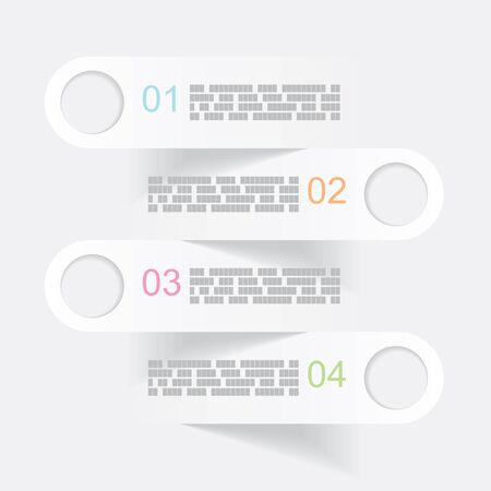 bookmarks: vector illustration of gray infographics banners or bookmarks