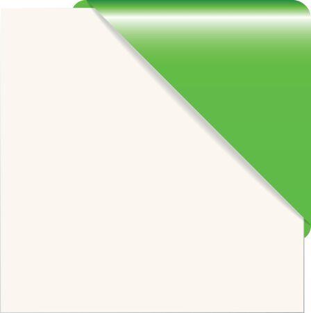 paper corner: Vector illustration of the green paper corner