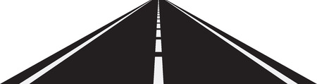 diminishing point: Vector illustration of perspective of curved road