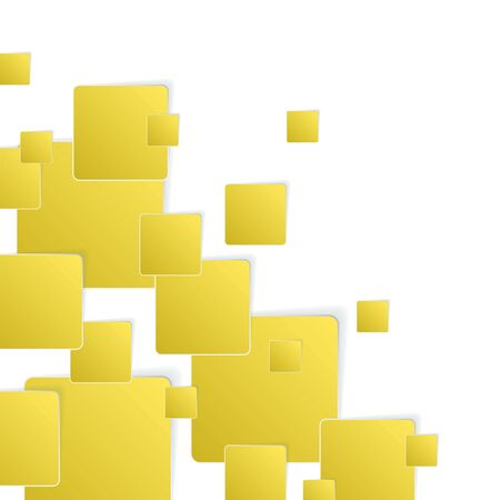 square background: Yellow paper square background pattern. Vector illustration
