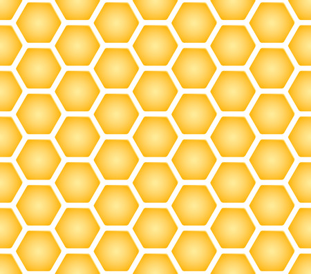 beeswax: Vector illustration of honeycomb of seamless texture of honeycomb