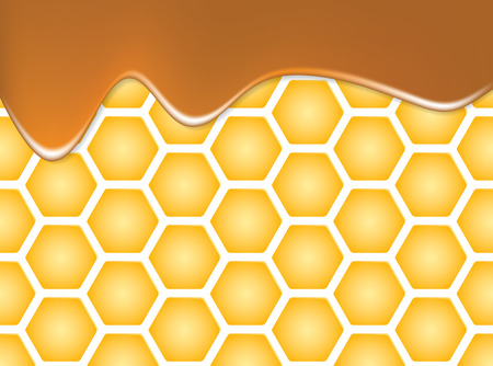 beeswax: Texture of honeycomb of honeycomb and sweet honey