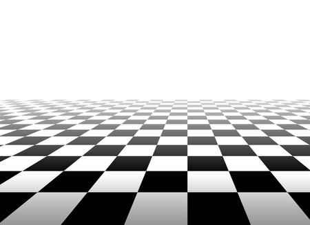 diminishing point: Black and white background with perspective of squares