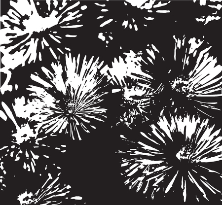 camomiles: Grunge floral background with camomiles. Vector illustration