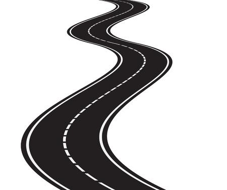 Illustration der Perspektive der kurvigen Straße