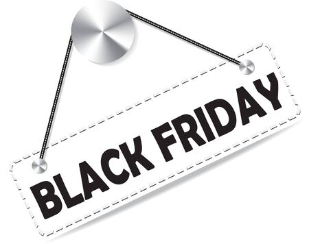 Markering van het document plaat voor zwarte vrijdag. vector illustratie