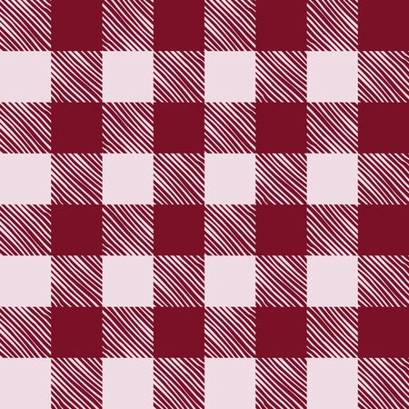 red plaid: Seamless texture of red plaid. Vector illustration Illustration