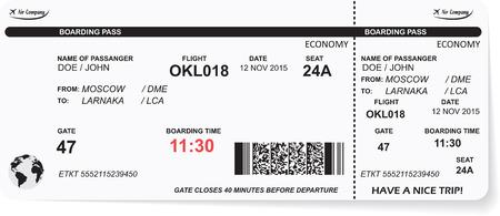 путешествие: Структура авиакомпании посадочный талон билет с QR2 кода. Концепция путешествия, путешествия или бизнеса. Изолированные на белом фоне.