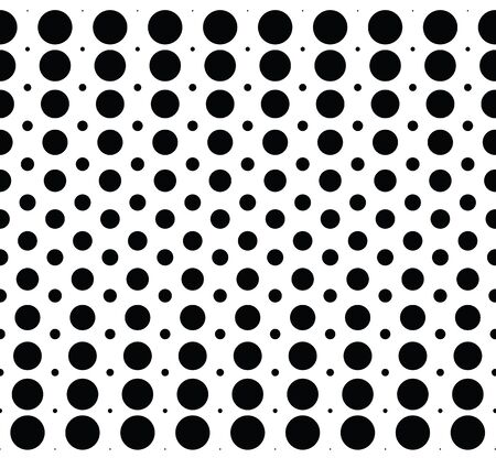 Seamless background pattern with halftone dots. Black and white colors. Vector illustration