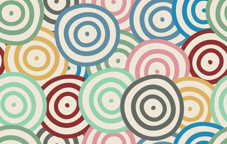 rounds: Seamless background of curved rounds. Vector illustration