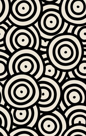rounds: Seamless background of curved rounds.