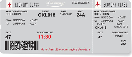 air travel: Vector illustration of pattern of a boarding pass. Concept of travel, journey or business trip