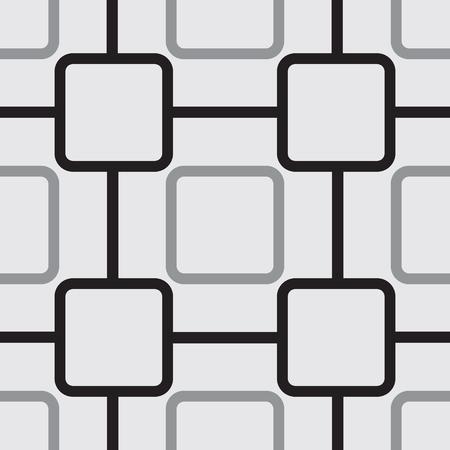 丸みを帯びた正方形のシームレスなパターン。ベクトル図
