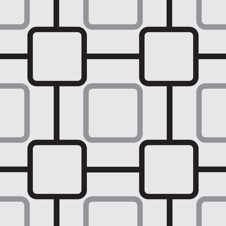Seamless pattern with rounded squares. Vector illustration