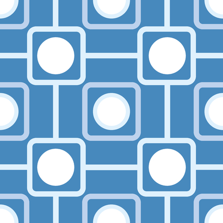 rounded squares: Seamless pattern with rounded squares and rounds. illustration