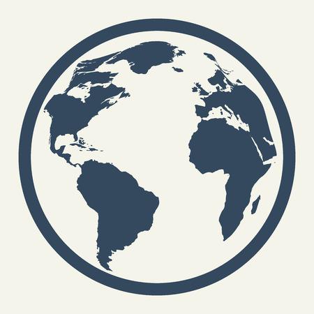 economic activity: Icon of globe in pastel colors. illustration