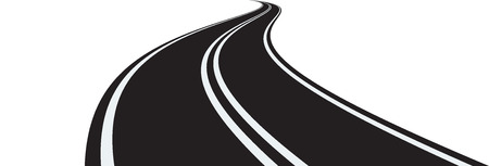 curved road: Vector illustration of curved road on white background
