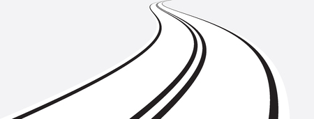 curved road: Vector illustration of curved road on gray background Illustration
