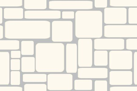 pebble: Seamless vector illustration of stone bricks background