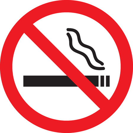 abstain: Vector illustration of Icon with No Smoking sign