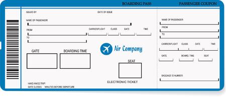 Vector illustratie van patroon van een boarding pass of vliegticket. Concept van de reis, een reis of zakenreis