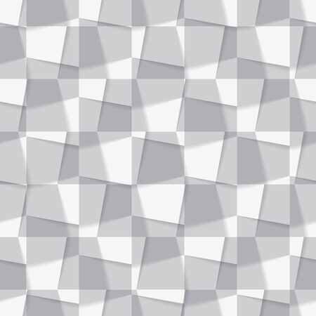 Seamless background made from from different geometric figures. Vector illustration Illustration