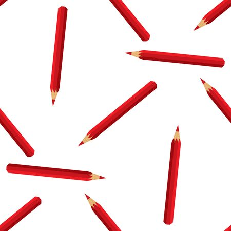 swatch: Vector seamless pattern swatch with red pencils